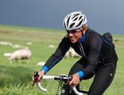 Leontien  van Moorsel op de fiets